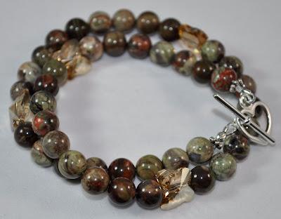 New Ocean Stone (dk) - Crystal Flight Bracelet Rock Candy Miami