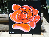 'Rose' acrylic on canvas