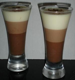 Tarta de tres chocolates: raciones individuales