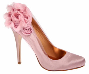 pink evening shoes