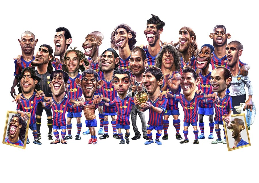 Footbarticles Cartoon Fc Barcelona 2009- picture wallpaper image
