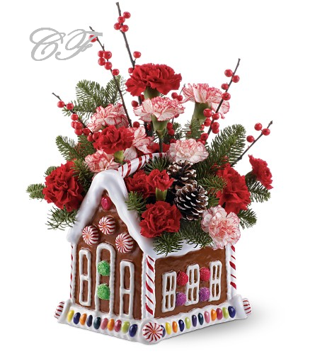 Christmas flowers design