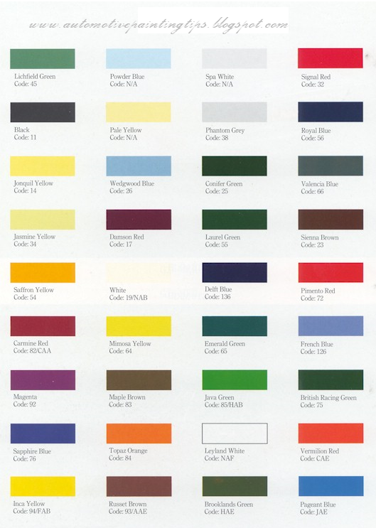 auto paint color chart automotive paint auto paint car