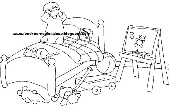 Bedroom color ideas,Bedroom color: Bedroom coloring pages