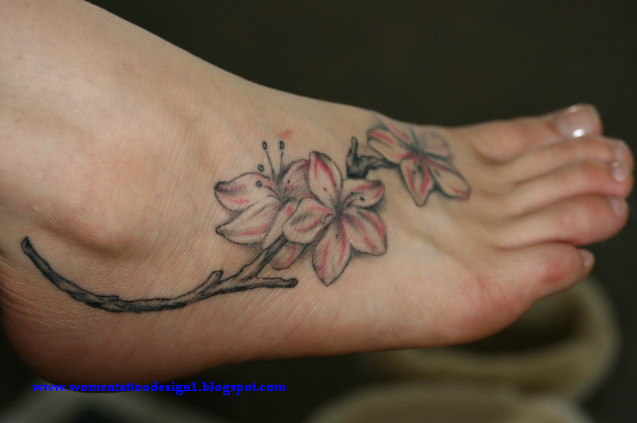 Flower Tattoo Black And Whitelily Flower Tattoo On Foot