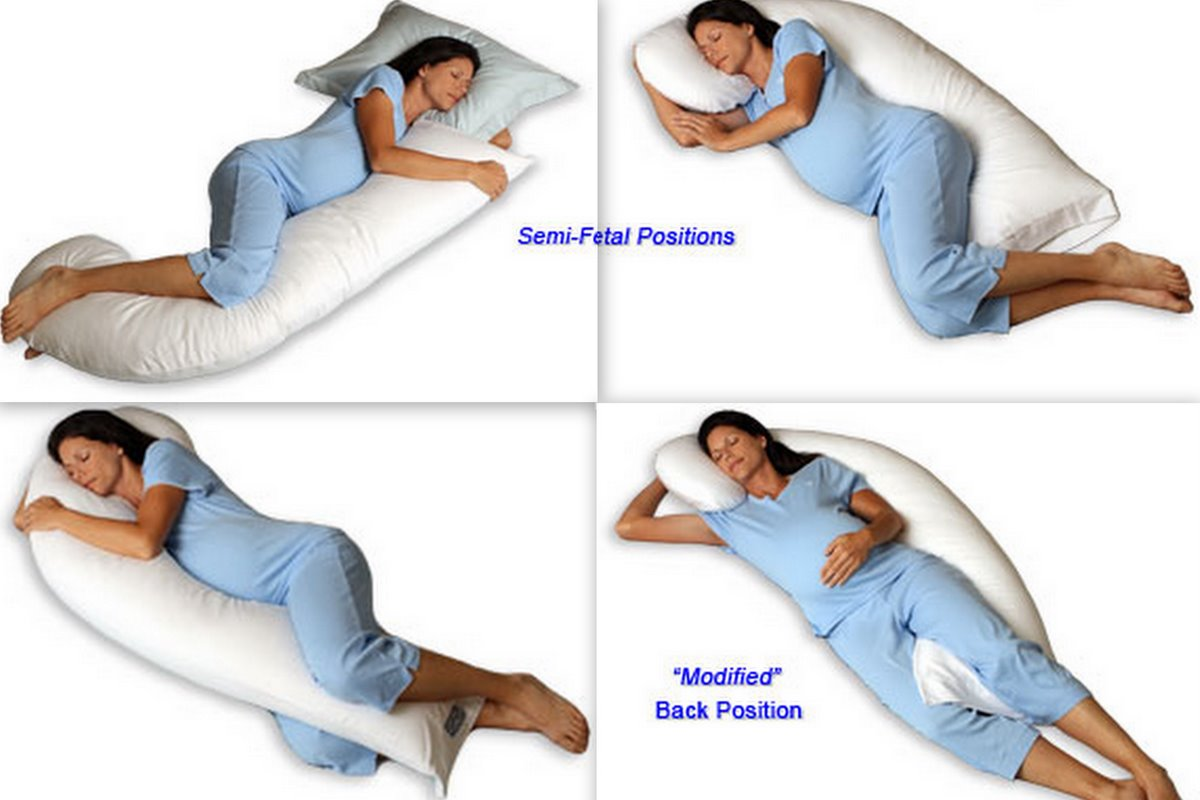 В каких позах надо спать при беременности