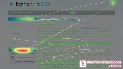 eyetracking on Home Page - Barcelona SEO Blog