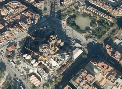 Google Earth Flat Image of Sagrada Familia - Barcelona Sights Blog