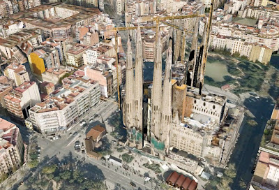 Sagrada Familia 3D from Google Earth - Barcelona Sights