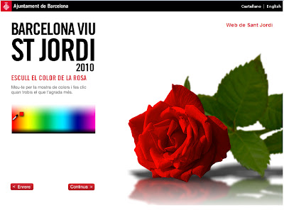 Virtual Rose for Sant Jordi - Barcelona Sights Blog