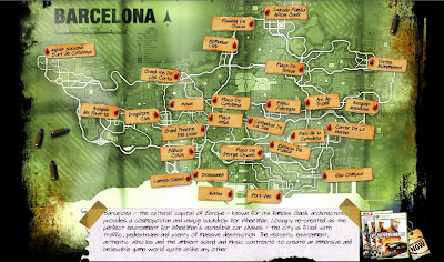 Barcelona Map on Video Game  - Barcelona Sights Blog