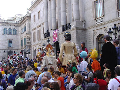 Barcelona Sights - Giants at La Merce