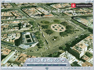 View of Placa Catalunya from the air - Barcelonasights blog