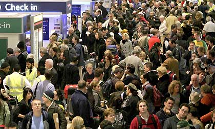 The Hustle and bustle at London Heathrow Airport