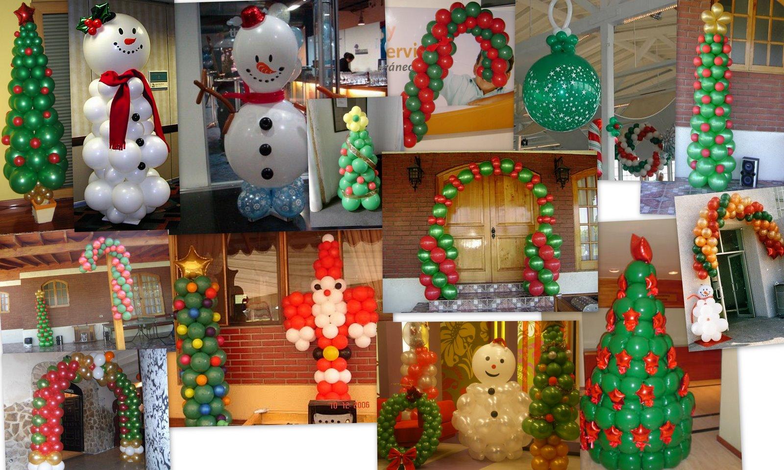 Deco globos any navidad - Decoracion navidena para negocios ...