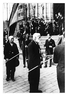 Antoni Gaudí a la processó de Corpus de la Catedral de Barcelona