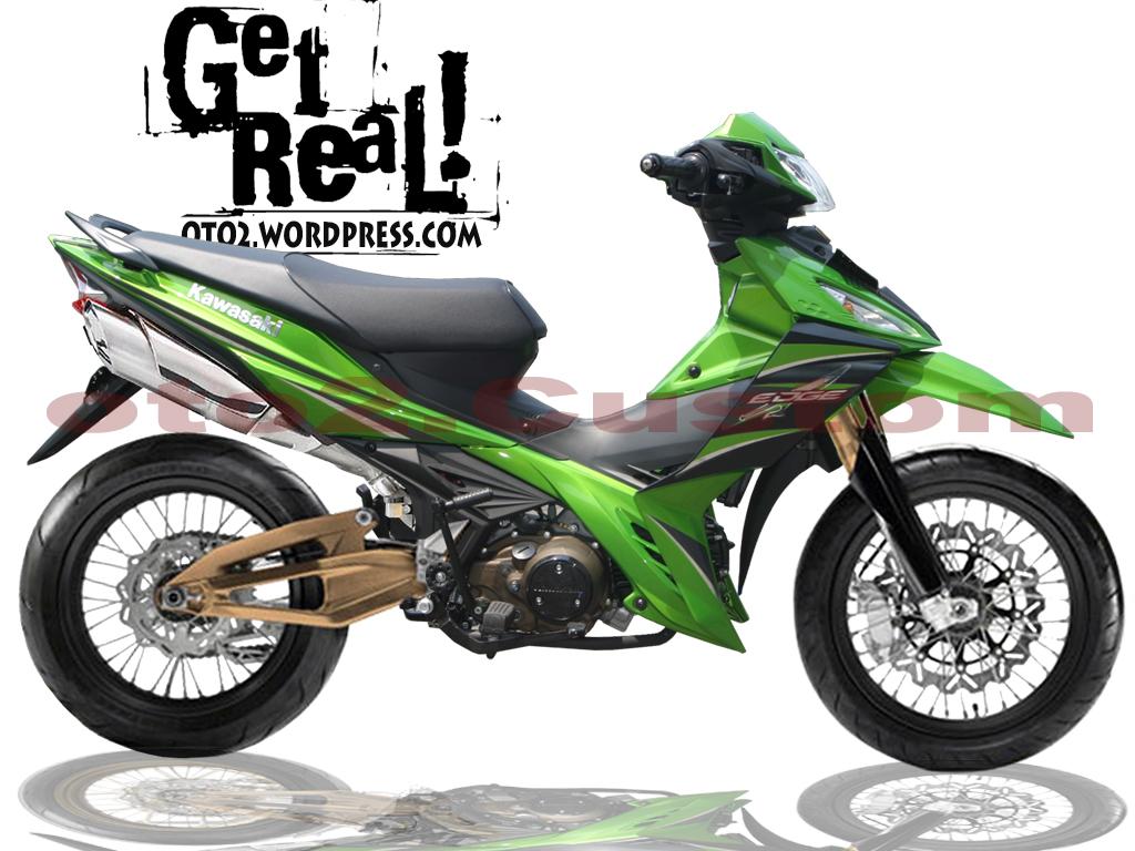 kawasaki edge Modifikasi Motor Kawasaki Edge Monoshock Knalpot Racing
