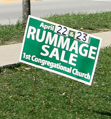 Now that the election is over, the Congregational Church is winning the sign