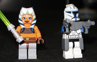 7675 Togruta padawan Ashoka and Clone trooper - star wars lego minifigures