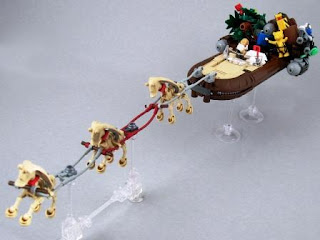star wars lego collectables santa sleigh christmas