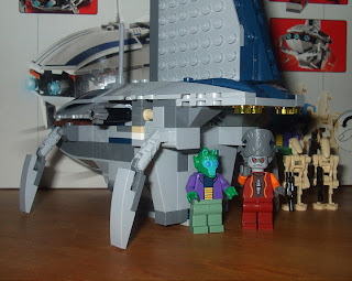 star wars lego collectables 8036 separatist shuttle back view