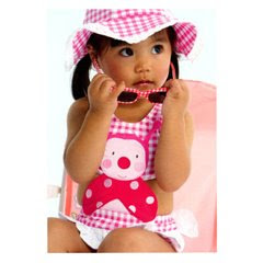 Le Top Ladybug mono med Baby and Toddler Swimsuits