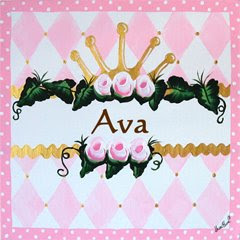 princess+name+plaque Personalized Children's Wall Art