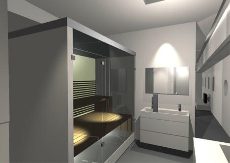 Woonschip gerealiseerd op de houthavenkade interieur badkamer - Interieur badkamer ...