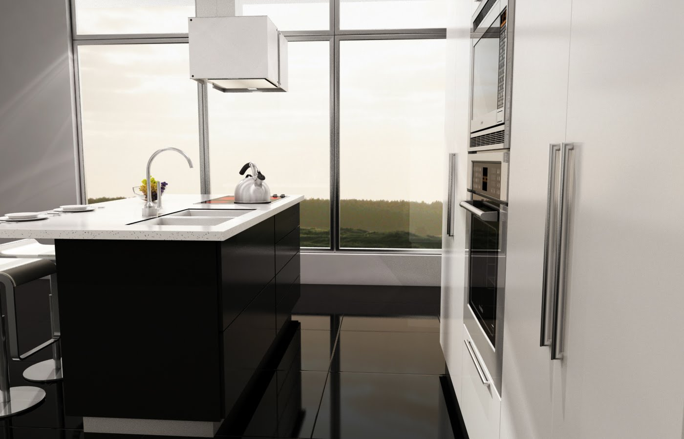 Roman molina dise o 3d cocina pino - Diseno cocina 3d ...