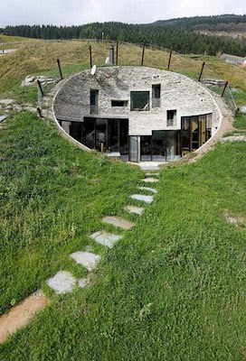 amazing house inside the hill