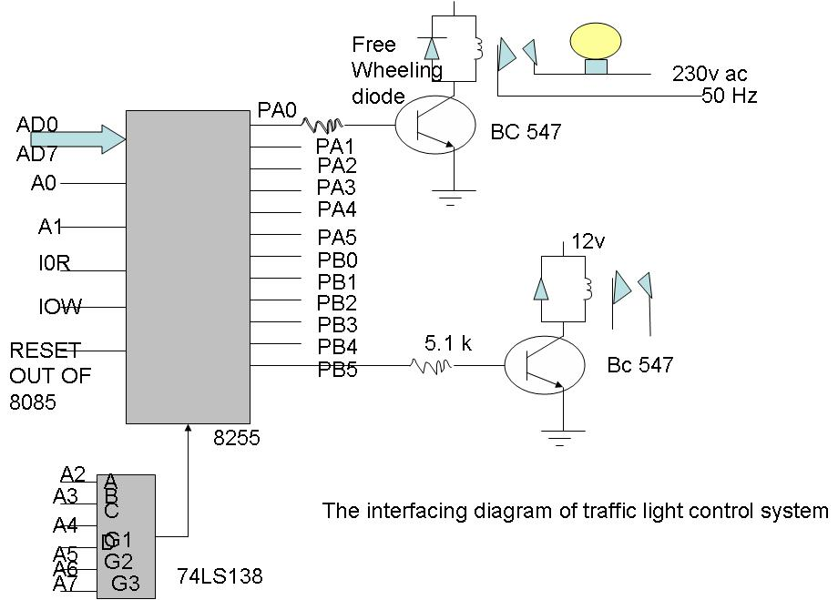 traffic lights circuit diagram pdf
