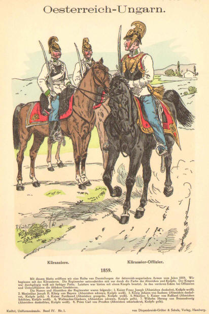 1859 map of italy. austrian cavalry 1859