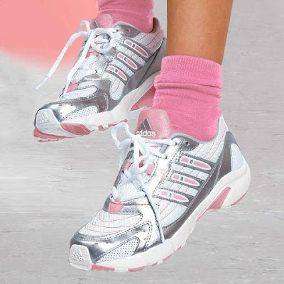 Cute silver-white-pink girls sneakers