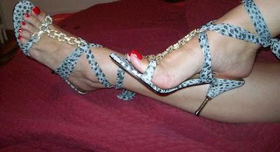 Grey leopard sandals
