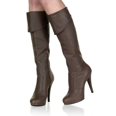4 1/2'' Stiletto Heel Leather Knee Boot