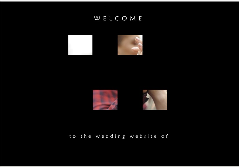 Wedding website welcome message sample