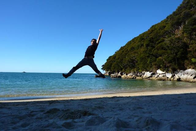 En el track de Abel Tasman da tiempo para muchas cosas