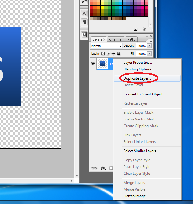 how to make a selection of a layer in photoshop