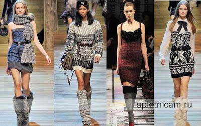 В язані сукні моделі