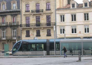 One of Bordeaux's sleek trams.