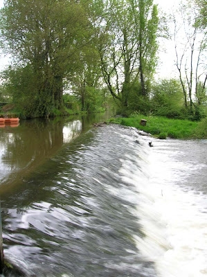 The weir at Brasserie de la Rainette