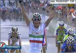 Though it took 12 stages, winning with the Italian champ colors on your back has to feel good.