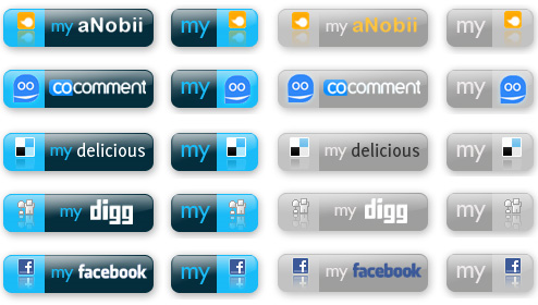 Social Web Buttons - Set 1