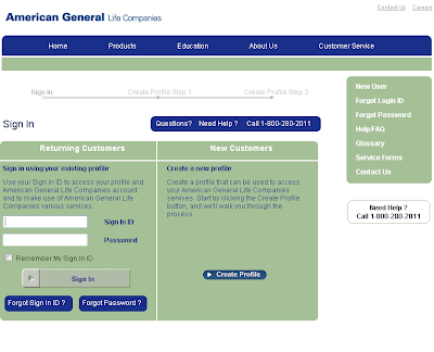 Login.aigag.com - eService Login for American General Life Companies