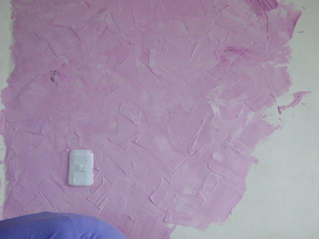 Textura espatulada em quarto