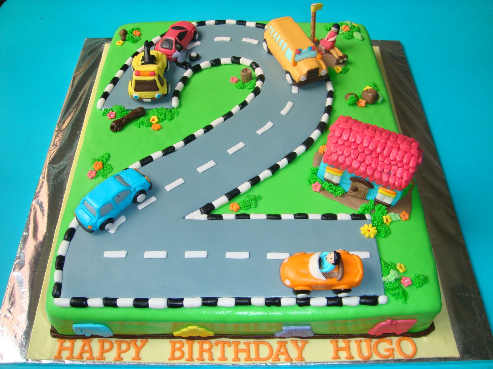Cake Design Cars Theme : Yummy Baking: Car Theme Fondant Birthday Car