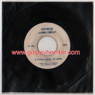 45 rpm Chuito Santiago - Sello Kromar