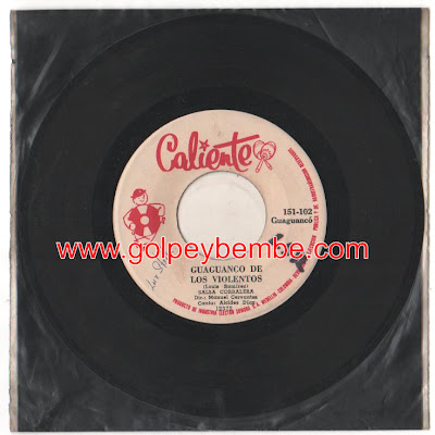 45 rpm Manuel Cervantes - Sello Caliente
