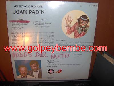 Juan Padin - Un Techo Azul Back