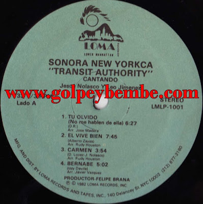 Sonora New Yorkca - Transit Authority A